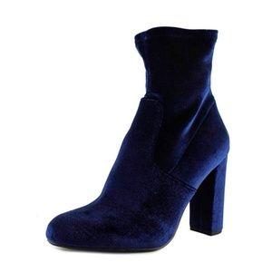 Steve Madden Blue Velvet Boots